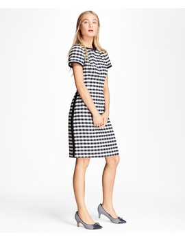 Gingham Boucle Shift Dress by Brooks Brothers