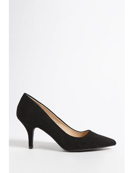 Qupid Pointed Faux Suede Pumps by Forever 21