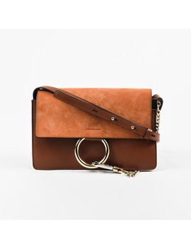 "Chloe $1390 ""Tobacco"" Brown Suede & Leather ""Small Faye"" Shoulder Bag by Chloé"
