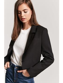 Cropped Hem Blazer by F21 Contemporary