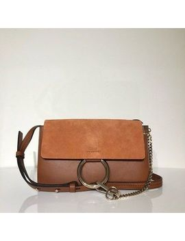Chloe Brown Leather Faye Small Shoulder Bag Everyday New $1390 by Chloe