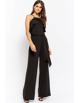 Ruffle Trim Jumpsuit by Forever 21