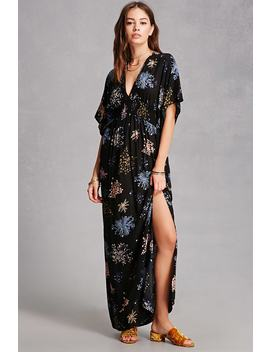 Floral Kimono Maxi Dress by Forever 21