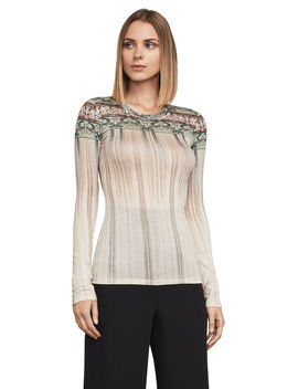 Asher Border Stripe Top by Bcbgmaxazria