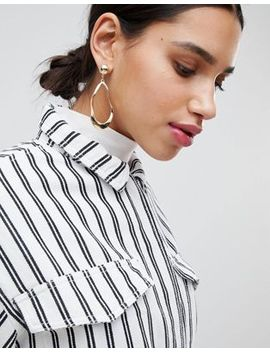 Monki Abstract Drop Hoops by Monki