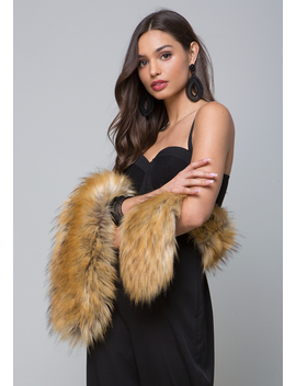 Luxe Faux Fur Scarf by Bebe