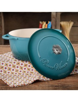 The Pioneer Woman Timeless Beauty Gradient 5 Quart Dutch Oven With Daisy And Bakelite Knob by The Pioneer Woman