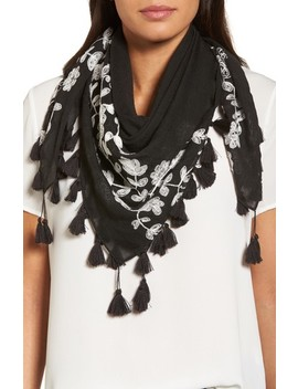 Embroidered Square Scarf by Rebecca Minkoff
