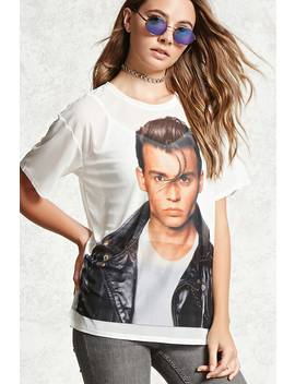 Sheer Johnny Depp Graphic Tee by Forever 21
