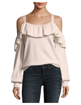 Delbin Cold Shoulder Cashmere Sweater by Joie