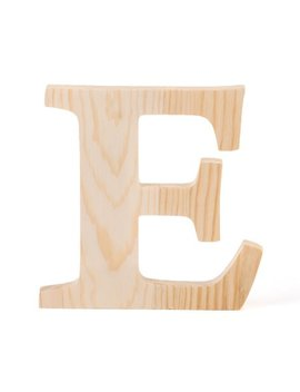 """6 In. Wooden Letter """"E"""" by Linen Tablecloth"""