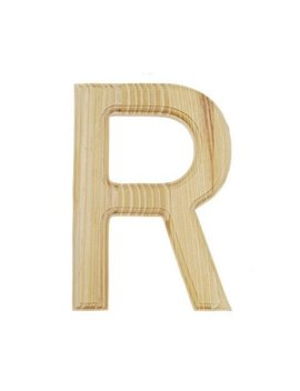 """6"""" Blank Unfinished Wooden Letter R by Best Pysanky"""