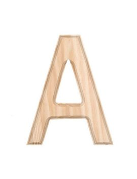 """6"""" Blank Unfinished Wooden Letter A by Best Pysanky"""