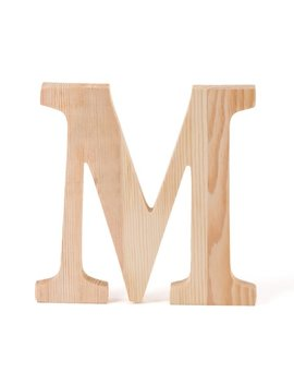 """6 In. Wooden Letter """"M"""" by Linen Tablecloth"""