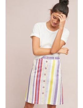 Seafaring Striped Skirt by Maeve
