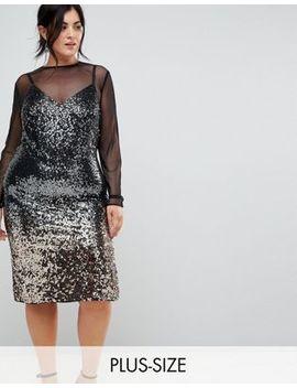 Coast Plus Gisella Ombre Sequin Mesh Dress by Coast