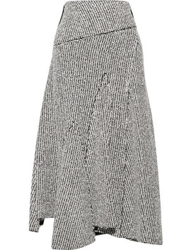 Asymmetric Frayed Bouclé Midi Skirt by 3.1 Phillip Lim