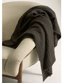 Cable Knit Wool And Cashmere Blanket by Vince