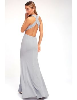 Heaven And Earth Grey Maxi Dress by Lulus
