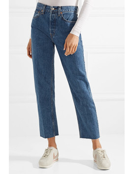 High Rise Stove Pipe Straight Leg Jeans by Re/Done