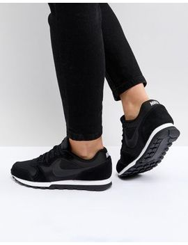 nike-black-&-white-md-runner-trainers by nike