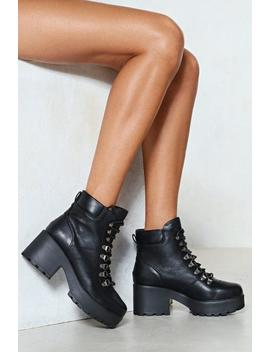 Walk On By Vegan Leather Boot by Nasty Gal