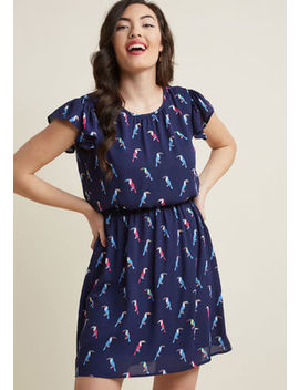 Good Golly A Line Dress In Toucans Good Golly A Line Dress In Toucans by Modcloth