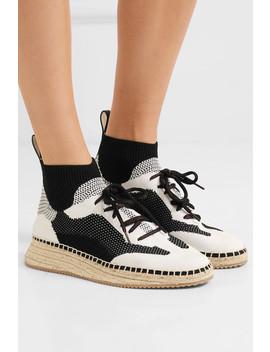 Dakota Stretch Knit Espadrille Sneakers by Alexander Wang