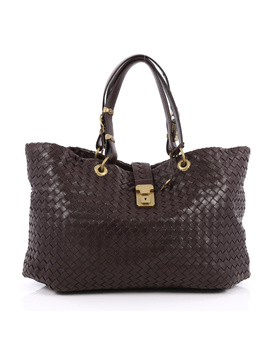 Pre Owned: Capri Tote Intrecciato Nappa Large by Bottega Veneta