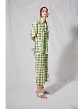 **Neon Checked Pyjama Pants By Boutique by Topshop
