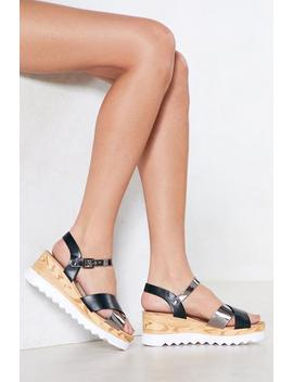 Make A Difference Wedge Sandal by Nasty Gal