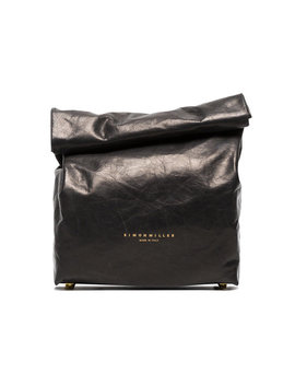Black Lunchbox 20 Leather Clutch Bag by Simon Miller