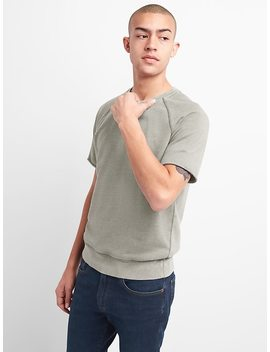 Short Sleeve Crewneck Sweatshirt In French Terry by Gap