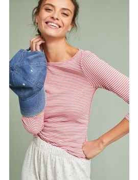 Montauk Striped Top by Three Dots