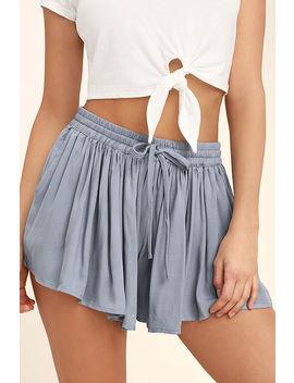 Jack By Bb Dakota Calla Slate Blue Shorts by Bb Dakota