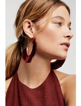 Flamenco Tassel Hoop by Free People