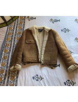 Ralph Lauren Shearling Suede Jacket Small Medium Acne Studios Style by Ralph Lauren Collection