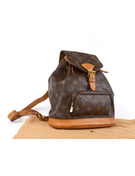 Auth [Average] Louis Vuitton Montsouris Mm M51136 Backpack W/Dust Bag(Used)54857 by Louis Vuitton