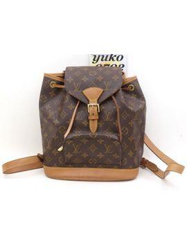 R62118 Auth Louis Vuitton Montsouris Mm Sp0090 Monogram Backpack Bag M51136 by Louis Vuitton