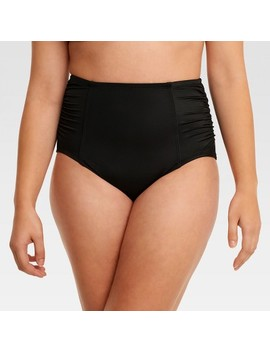 Beach Betty™ By Miracle Brands Women's Slimming Control High Waist Bikini Swim Bottom   Black by Shop Collections