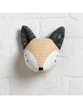 Paper Mache Fox Head by Crate&Barrel