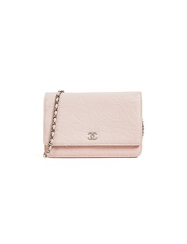 Chanel Embossed Camilla Wallet On A Chain by What Goes Around Comes Around