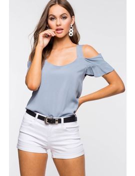 Marcy Cold Shoulder Top by A'gaci