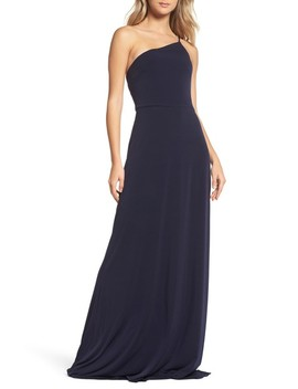 Jersey One Shoulder Gown by Amsale
