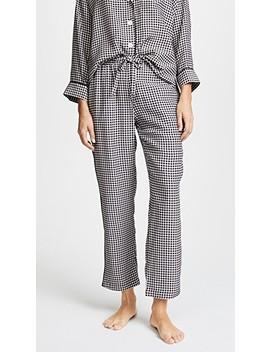 Silk Marina Gingham Pajama Pants by Sleepy Jones