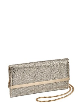 Milla Glitter Wallet On A Chain by Jimmy Choo