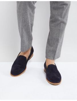 Zign Suede Smart Loafer In Navy by Zign