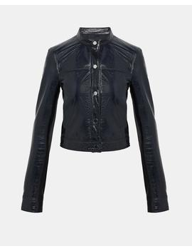 Patent Leather Mod Bomber Jacket by Theory