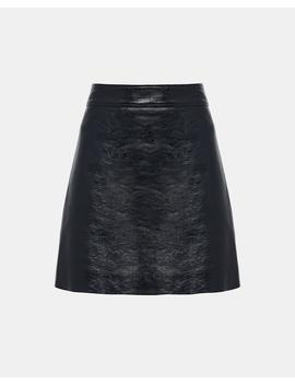Patent Leather Mini Skirt by Theory