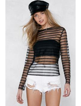 Chevron To Watch Mesh Top by Nasty Gal